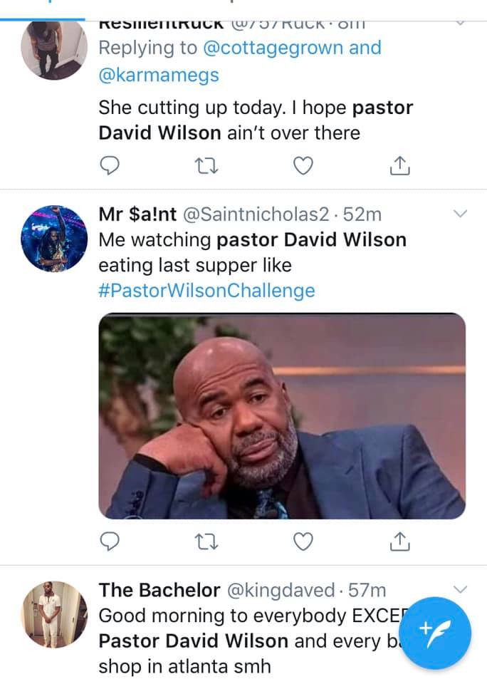 Married Pastor David Wilson spotted eating another woman
