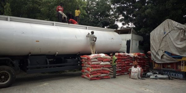 Customs impounds 250 bags of rice concealed in fuel tanker