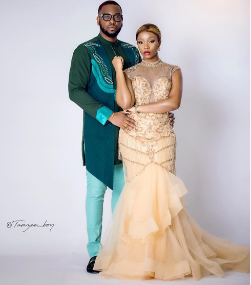 #BBNaija couple Teddy A and Bam Bam stepped out in style for #Headies2019