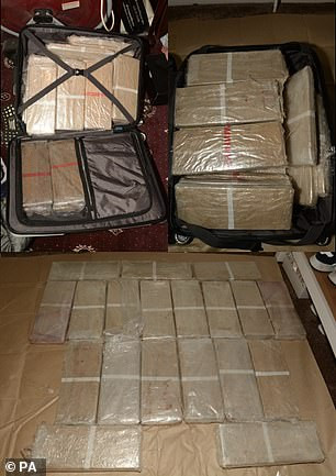 Police release photos of seized ?3million haul of heroin and ?100,000 in cash found under false floor of a van
