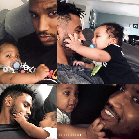 Trey Songz shares adorable new photos with his son as he turns 6 months old