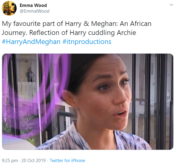 Fans gush over reflection of Prince Harry rocking Archie while Meghan grants interview (video)