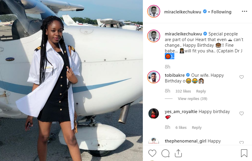 BBNaija2018 winner?Miracle?celebrates his girlfriend