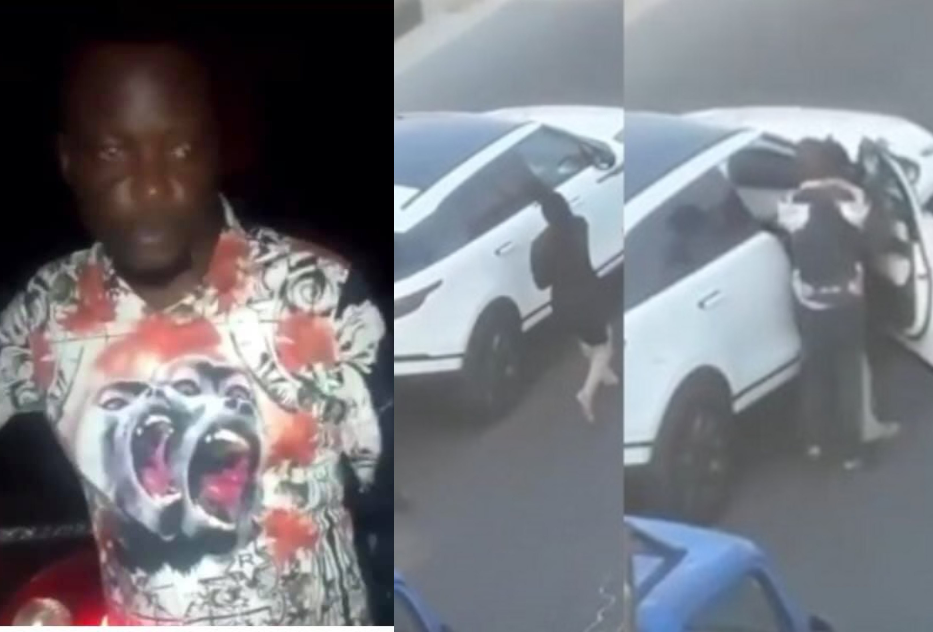 Bobrisky shares video of the man that assaulted him after bashing his car. Reveals what really happened (watch video)