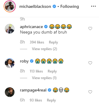 Michael Blackson has his followers in stitches after he shared DM Kylie Jenner allegedly sent him