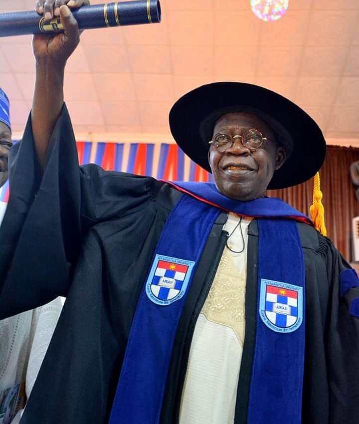 Asiwaju Bola Ahmed Tinubu, Obi of Onitsha, and Sultan of Sokoto conferred with honorary doctorate degree at Afe Babalola University