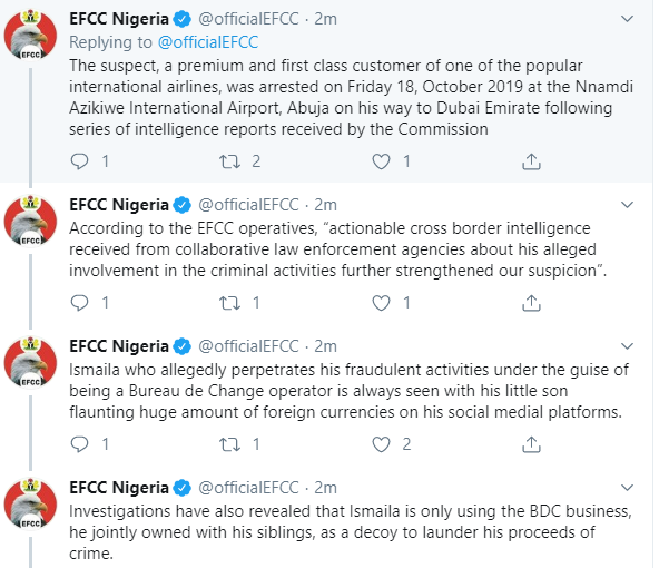 EFCC releases photos as they confirm arrest of flamboyant social media