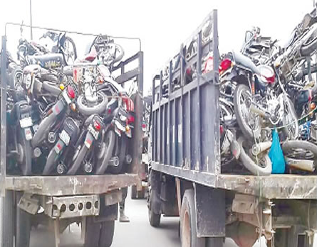 4,477 motorcycles?seized from traffic violators will be crushed soon -?Lagos State Task Force