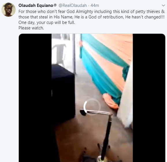 Alleged thief electrocuted while trying to steal a wire from church (graphic video)