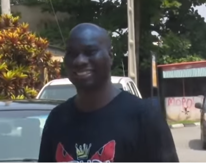Video:  Mompha was all smiles after he was arrested by EFCC