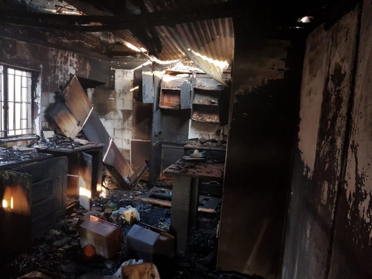 Photos of Nigerian businesses burnt in fresh xenophobic attack in South Africa