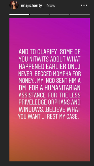 It is better to be a beggar than a fraudster - Actress Charity Nnaji continues to mock Mompha, shares video outside EFCC