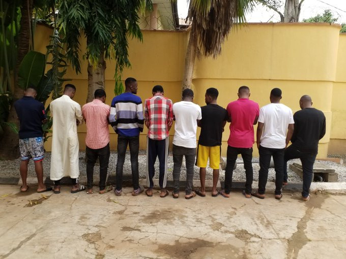 EFCC arrests 10 Internet Fraud Suspects in Ilorin, recover dangerous charms & fake currency (Photos)