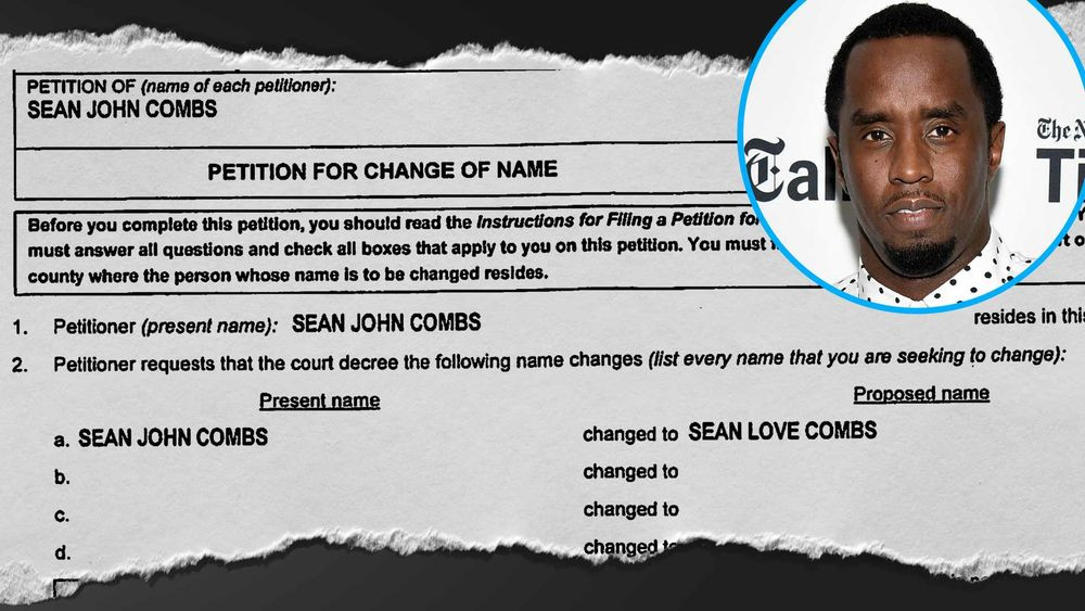 Diddy officially files to legally change his name to Sean