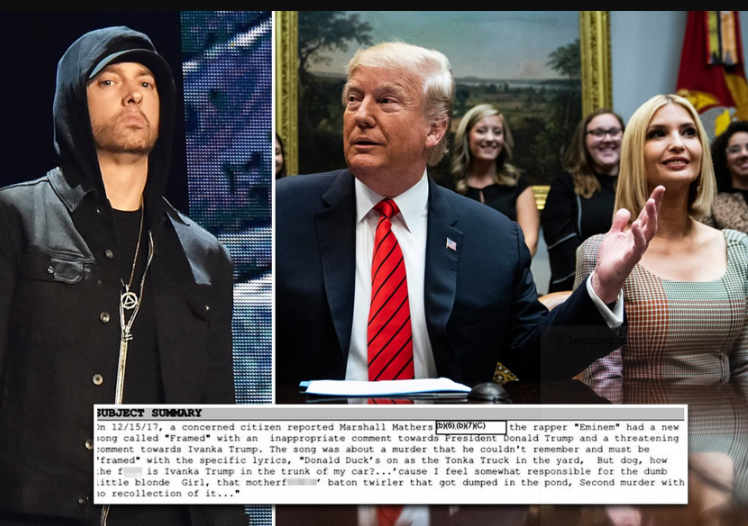 Secret Service agents visited Eminem over