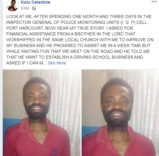 Nigerian man shares his story after spending 33 days in jail for being the last person to call a robbery victim