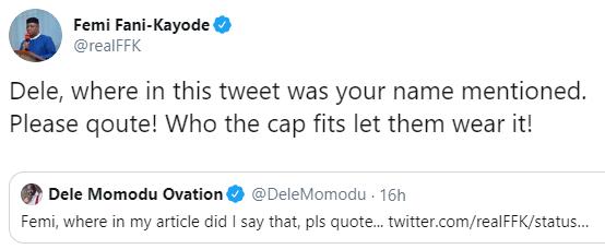Between FFK, Dele Momodu and Bola Tinubu on Twitter