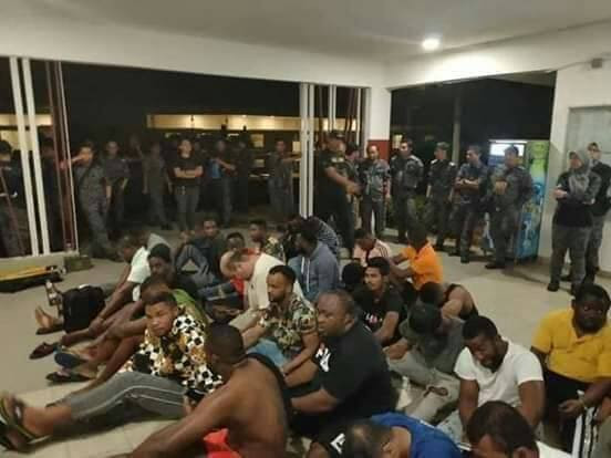 Over 30 Nigerians deported from indonesia for sparying money during prophet Odumeje's crusade in Jakarta, Indonesia