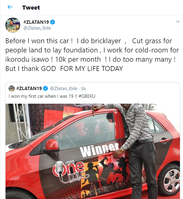 I was once a?bricklayer before making it big in music - Zlatan