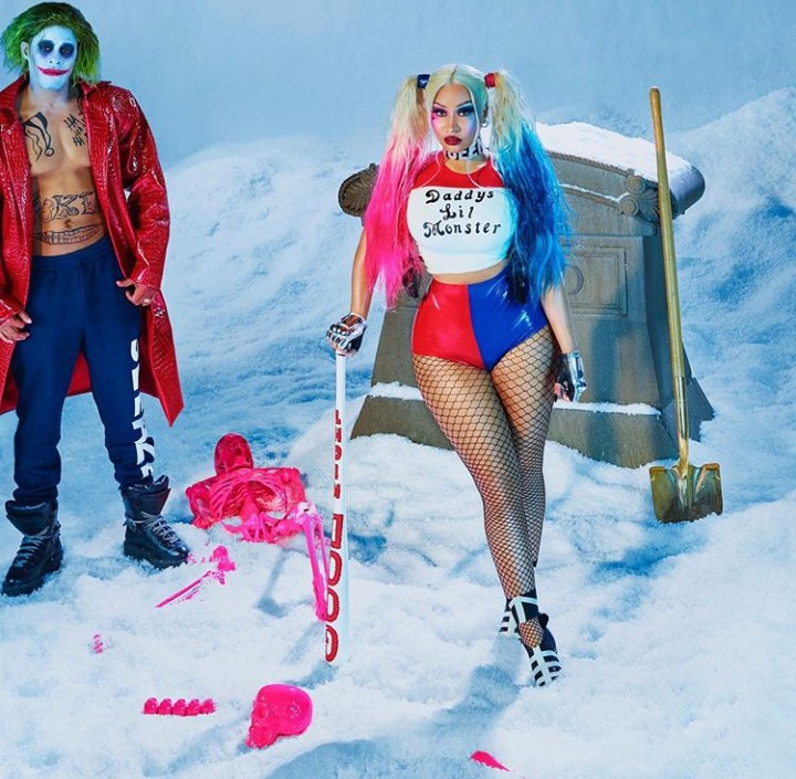 Nicki Minaj and husband Kenneth Petty dress as Joker and Harley Quinn for Halloween (photos)