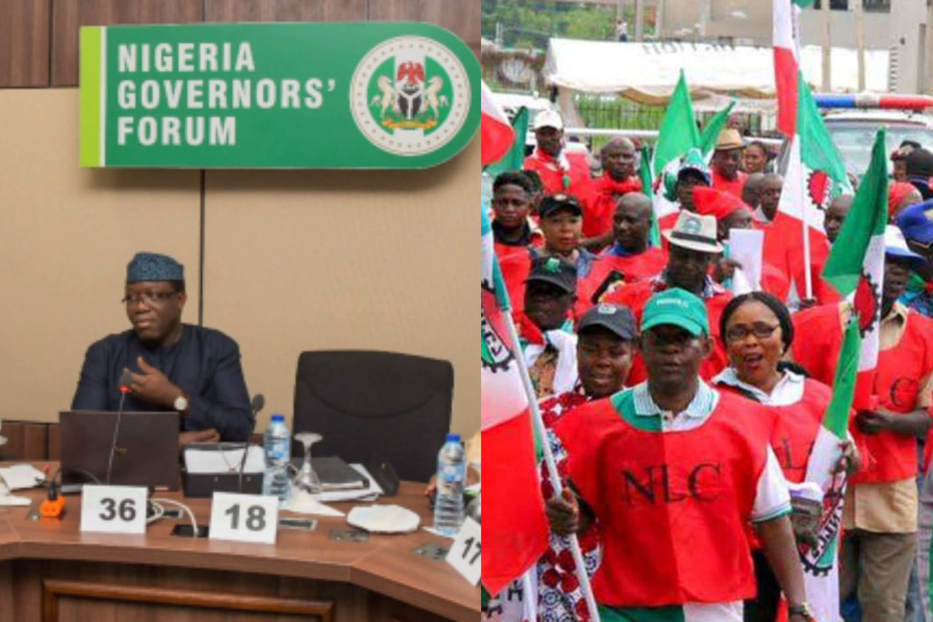 The new minimum wage applies to only federal government workers - Nigerian Governors Forum