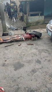 Jubilation as police gun down alleged notorious robber ?Lawyer? in Bayelsa (graphic photos)