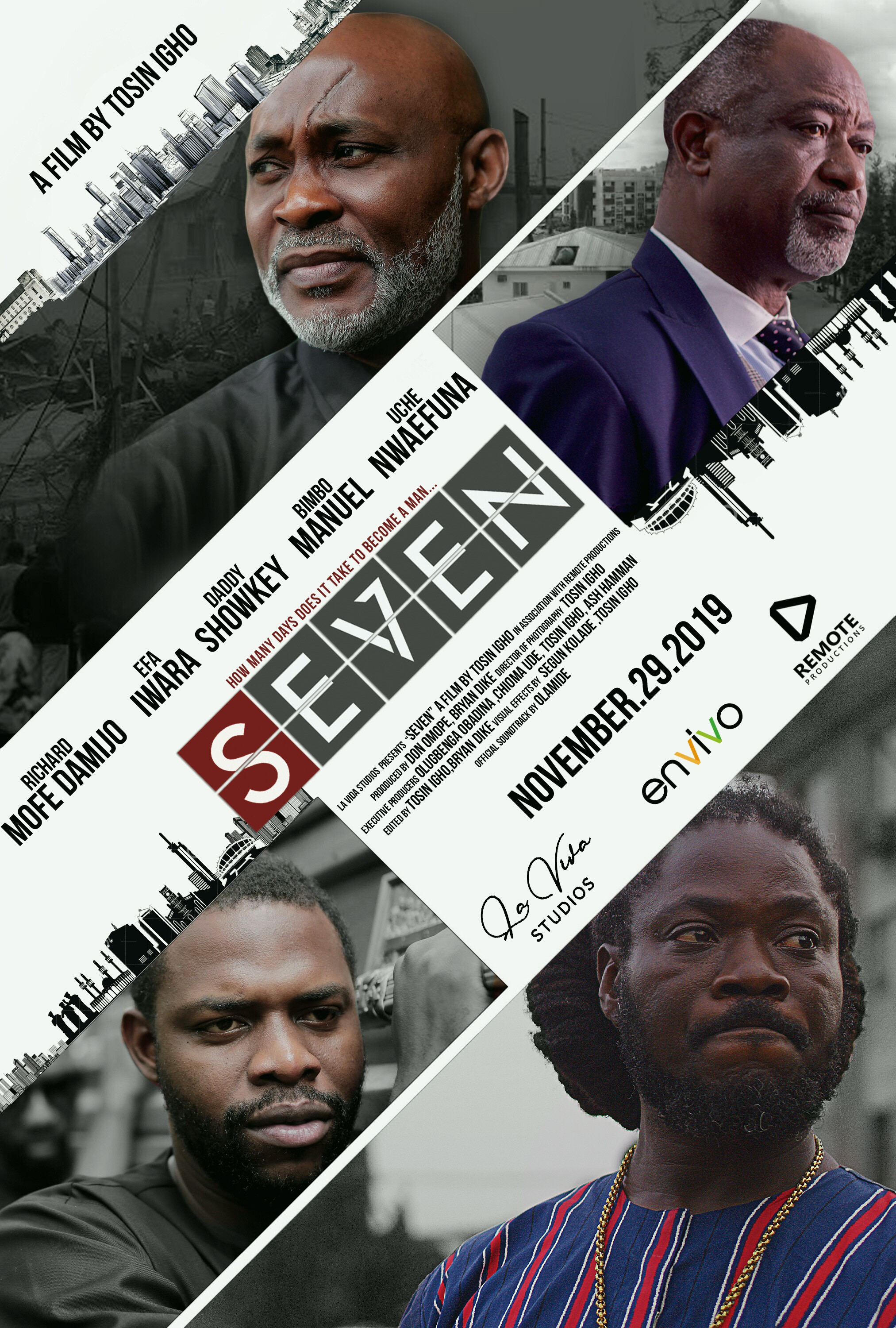 """Watch The Trailer For The Movie """"SEVEN"""" Starring RMD, Orezi, Daddy Showkey and More.. Directed by Tosin Igho"""