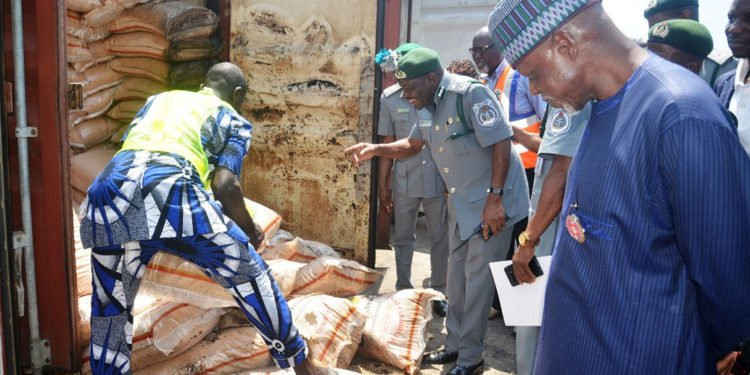 Customs seize 33 containers of expired rice