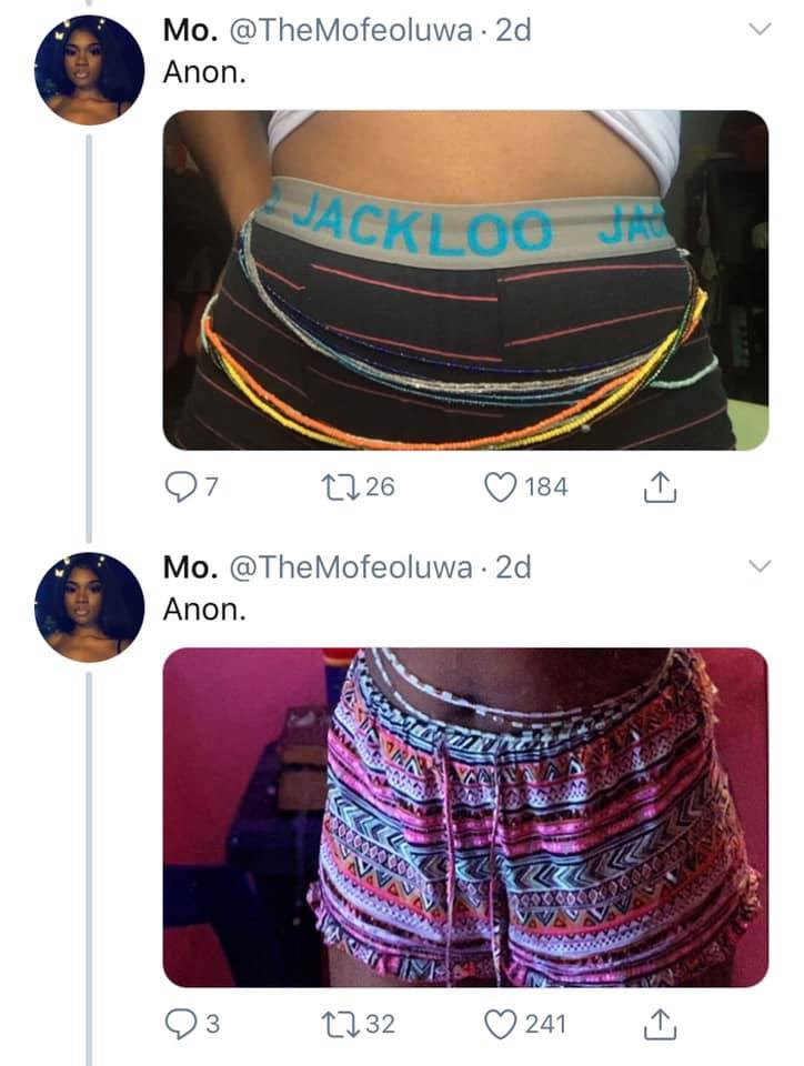 Nigerian ladies are doing a waist bead challenge and here are photos