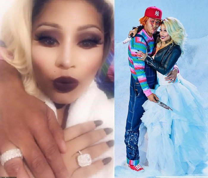 Nicki Minaj flaunts gigantic $1.1M wedding ring bought by her husband Kenneth Petty as they share new Halloween photos thumbnail
