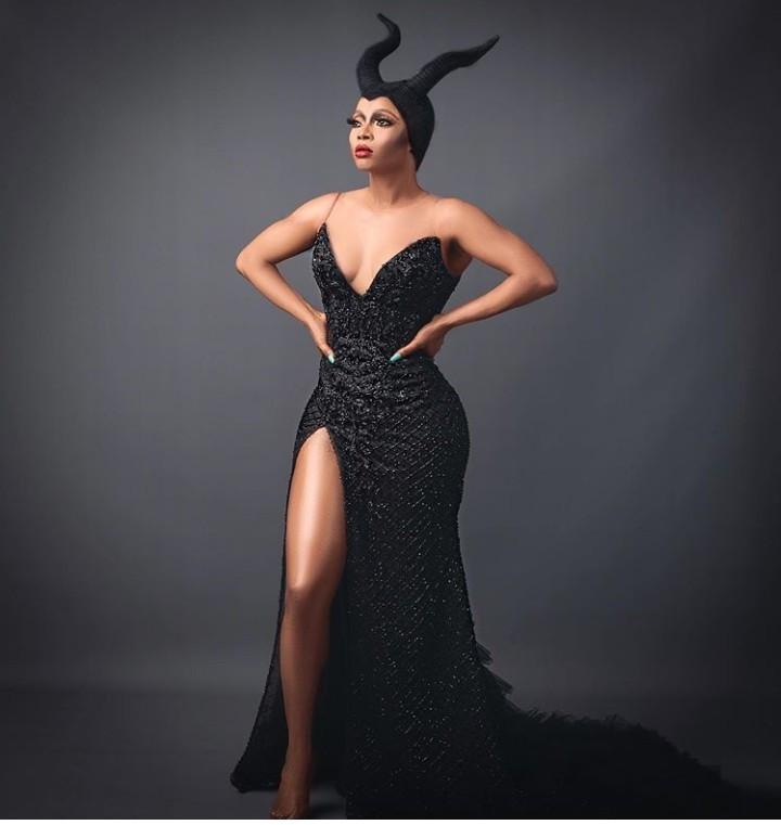 Toke Makinwa dresses up as Maleficent for Halloween