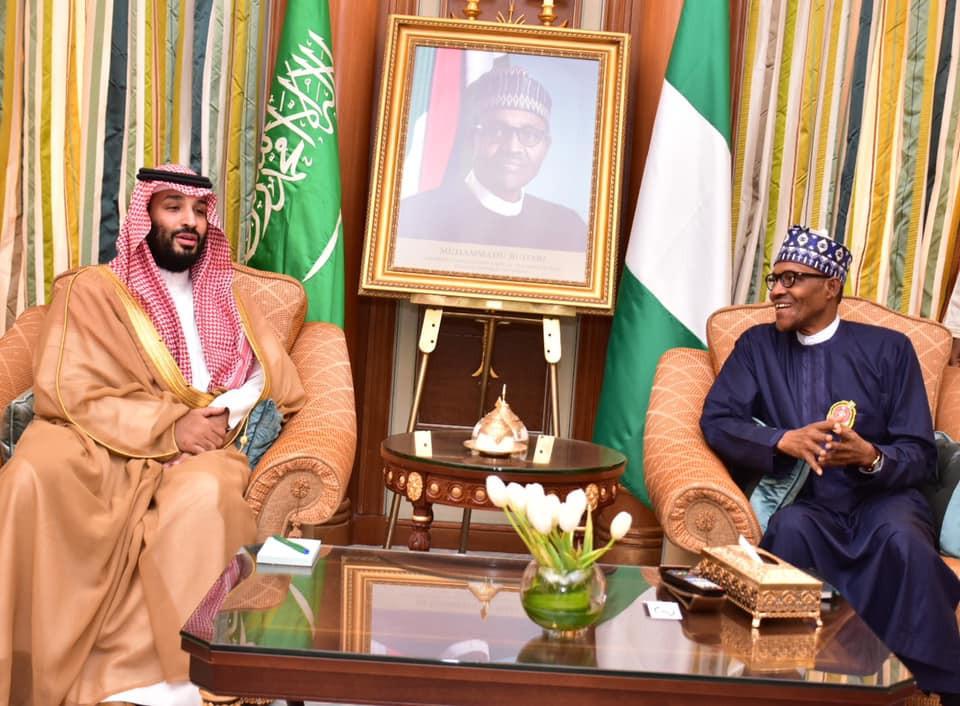 Photos:?President Buhari meets with Saudi Crown Prince,?Mohammed bin Salman