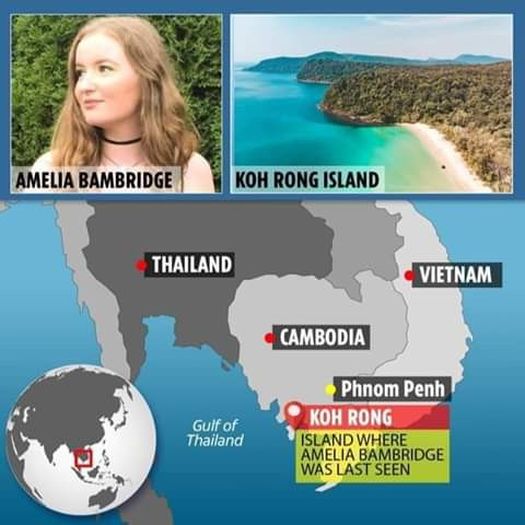 Body of 21-year-old British tourist missing in Cambodian found floating in the sea