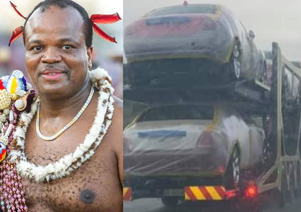 King of Swaziland, the poorest African country, allegedly buys 19 Rolls Royce for his 15 wives and a customised Rolls Royce Cullinan SUV for himself (photos)