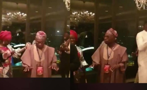 Former President Olusegun Obasanjo spotted dancing........he
