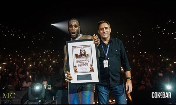 Burna Boy becomes first Afrobeat artiste to sell out SSE Arena (videos)