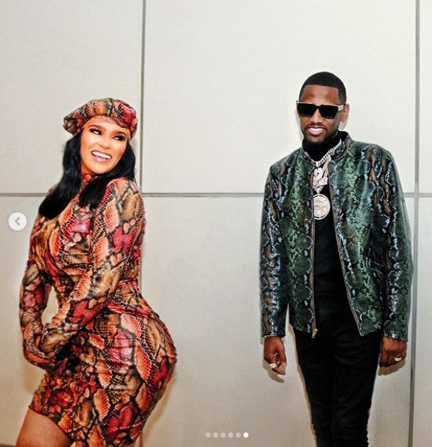 Rapper Fabolous?and his partner Emily Bustamante strike suggestive poses in new photos