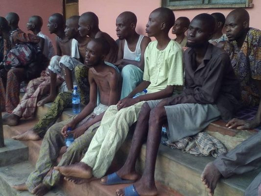Image result for images of Police discover detention camp in Ibadan, 400 inmates rescued