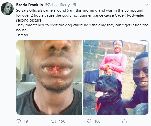 "Man narrates how SARS allegedly brutalized his brother after accusing him of being a ""Yahoo boy"