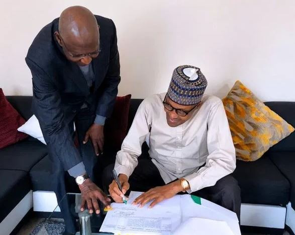 Abba Kyari under fire for?flying to London for President Buhari to sign a bill
