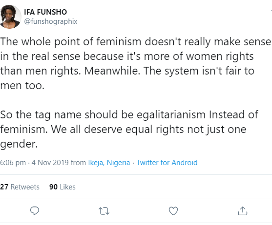 "Woman states why ""feminism doesn"