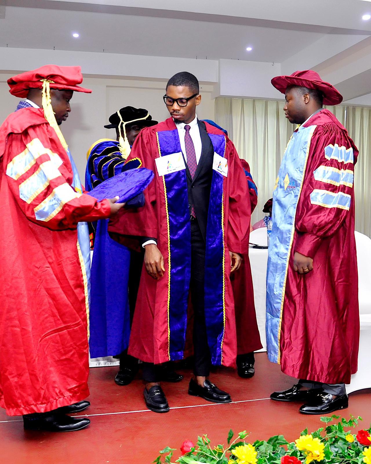 Nigerian Fashion Icon Sodiq Babatunde Rufai bags honorary Doctorate degree (P.hD) in Public Administration at the prestigious ESCAE-BENIN University, Republic of Benin