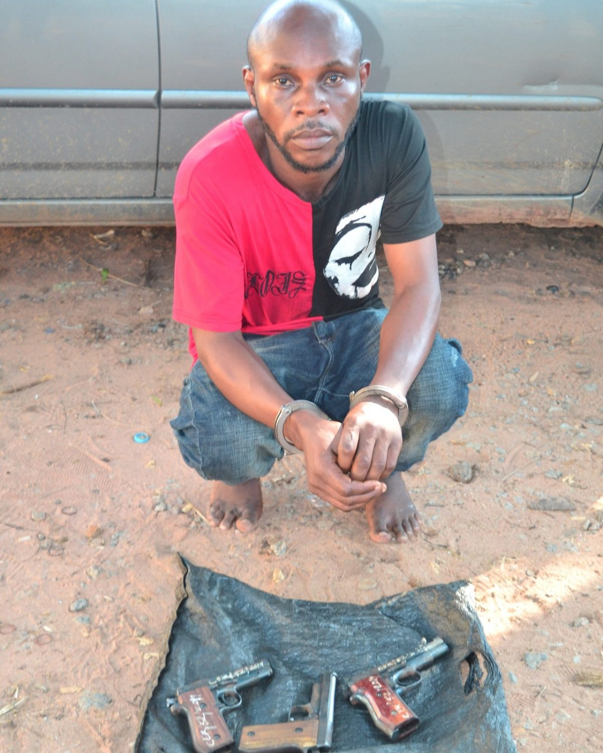 Suspected armed robber arrested with 3 pistols in Delta motor park