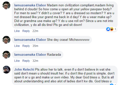 Opinions differ as Nigerian lady says it