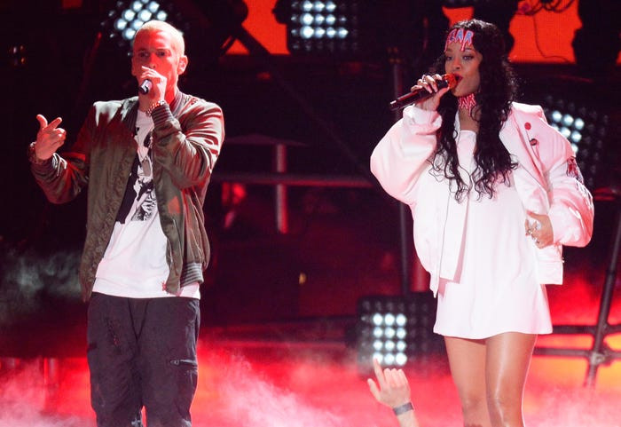 Fans blast Eminem after snippet surfaces of him saying in an unreleased song he supports Chris Brown