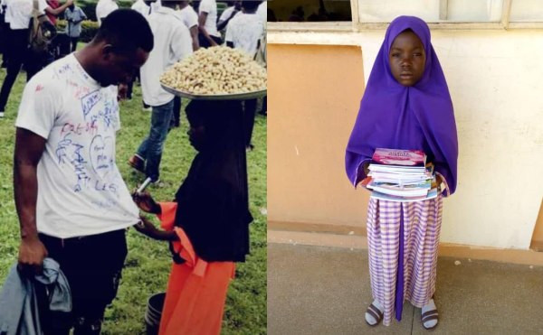 Little groundnut seller who pleaded to sign on a graduate