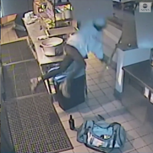 VIDEO: Woman falls through ceiling of California restaurant after breaking in to steal