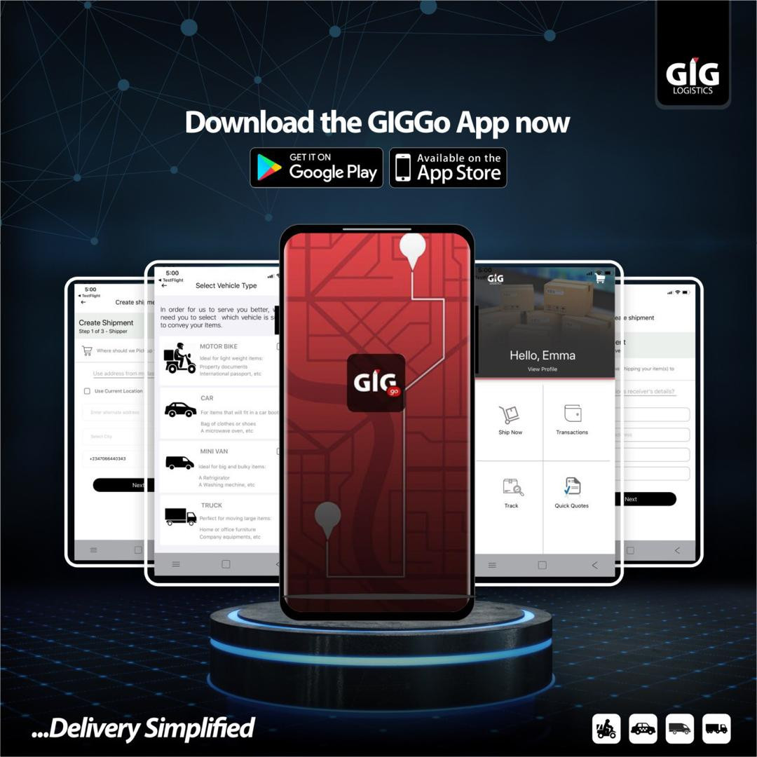 GIG Logistics just launched GIGGO App! Now your logistics and delivery will be super-fast! You can also earn as a delivery partner