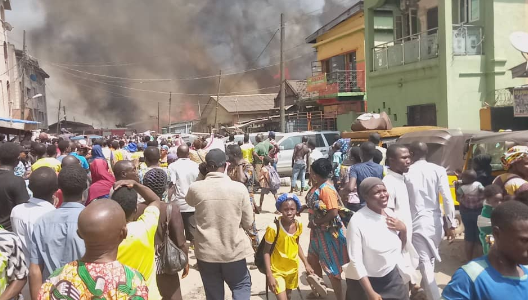 Another building gutted by fire in Lagos (photos)