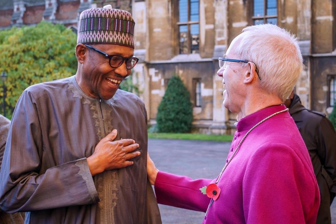 President Buhari hosted by Archbishop of Canterbury in London (photos)